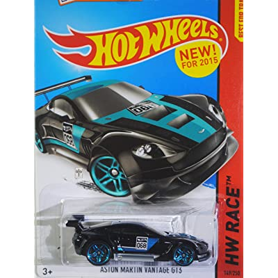 Hot Wheels 2015 HW Race, Aston Martin Vantage GT3 149/250, Black: Toys & Games