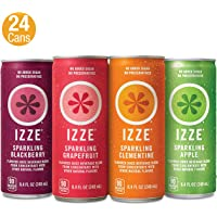 24-Pack IZZE Sparkling Juice 8.4 fl-Oz. in 4 Flavors (Variety Pack)