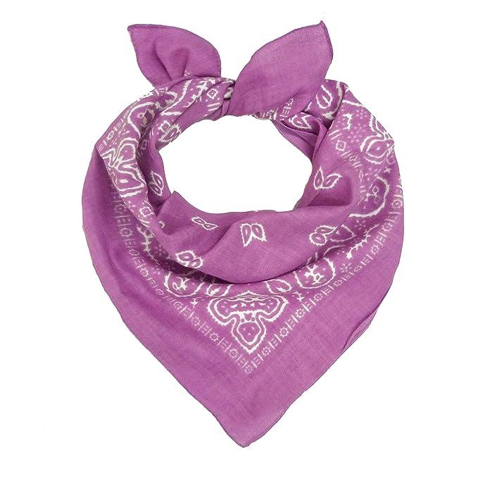 bandana violett PAISLEY halstuch Kopftuch Tuch Neu paisley 55x55cm bandanas