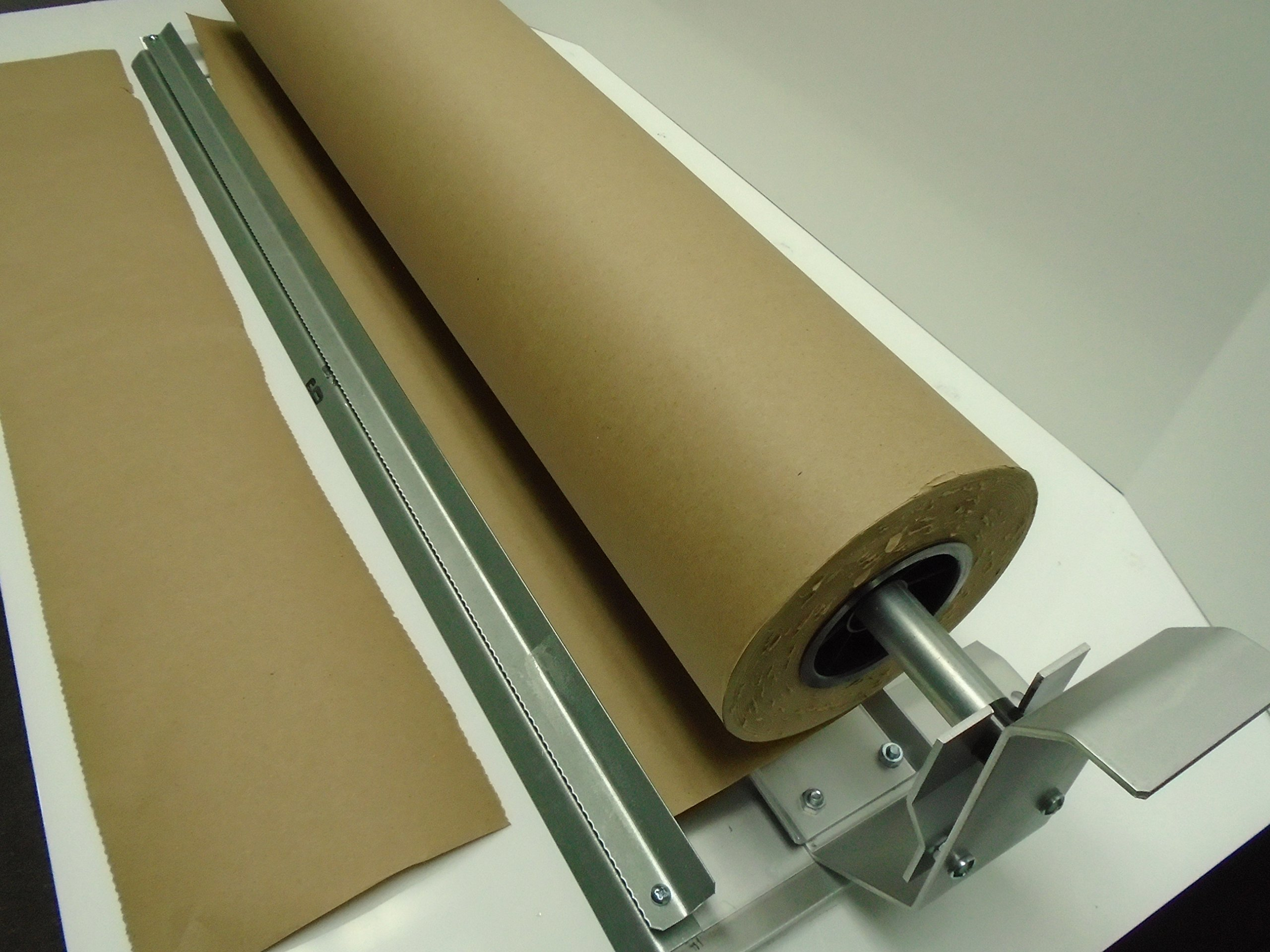 Paper Cutter Roll Dispenser Econoline 24 inches table mount Kraft paper Duralov