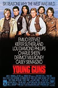 Movie Studio Release Vintage Poster 24 X 36 Poster Young Guns 1