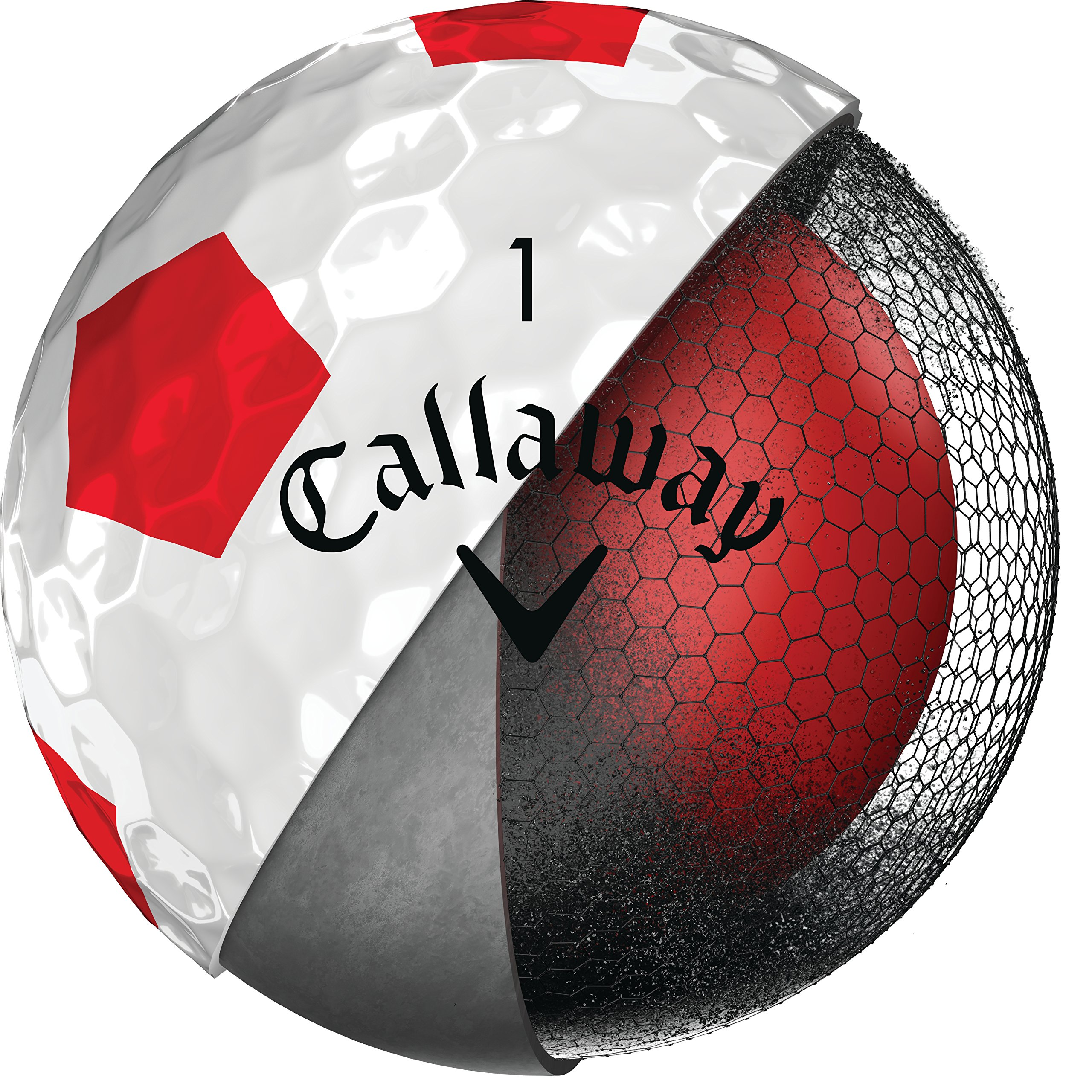Callaway Golf Chrome Soft '18 Truvis Chrome Soft Truvis '18 Golf Ball (12 Ball Pack), Truvis Red