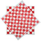 product image: Deli Squares - Wax Paper Sheets (12 x 12) (Pack of 100) (Checkered Red)