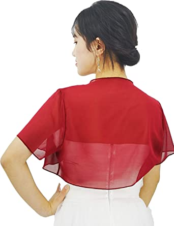 Short Sleeve Bolero in Red