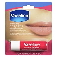 Vaseline Lip Therapy Rosy Lips | Lip Balm with Petroleum Jelly for Providing Your Lips with Ultimate Hydration and Essential Moisture to Treat Chapped, Dry, Peeling, or Cracked Lips; 0.16 Oz (3-Pack)