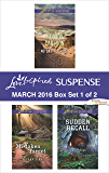 Love Inspired Suspense March 2016 - Box Set 1 of 2: No One to Trust\Mistaken Target\Sudden Recall
