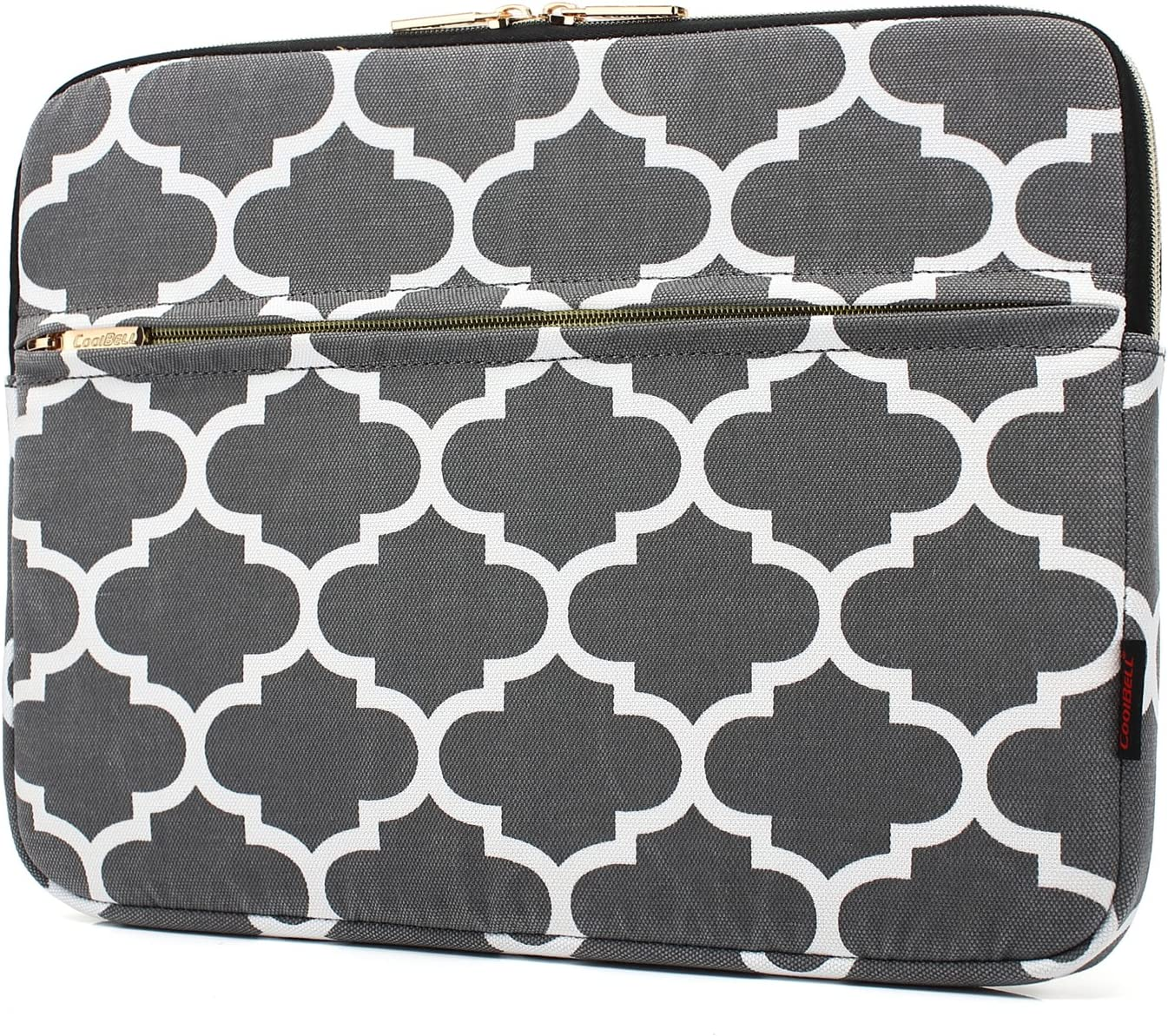 CoolBELL 15.6 Inch Laptop Sleeve Bag With Accessories Front Pocket/Fabric Laptop Protective Case For Dell/HP/Acer/ASUS/Lenovo/Ultra-book/Macbook Pro/Macbook Air / (Dark Grey)
