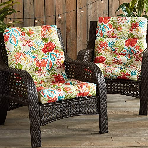 Cheap South Pine Porch AM6809S2-BREEZE Breeze Floral Outdoor High Back Chair Cushion outdoor chair cushion for sale