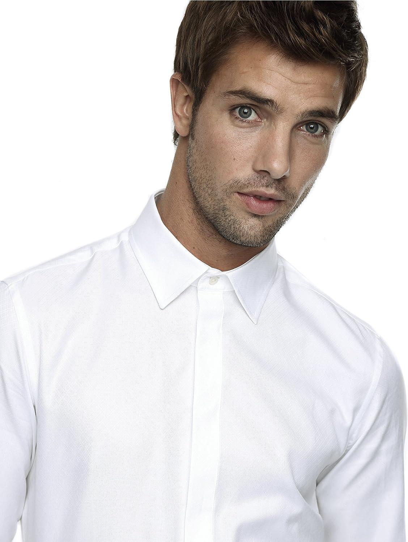 Caramelo, Camisa Ceremonia Slim Con Cuello Ingles, Hombre ...