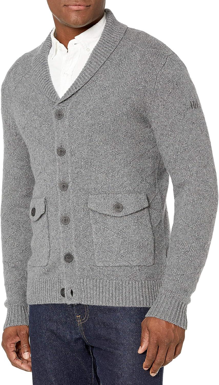 Helly-Hansen mens Skagen Classic Wool-blend Button-up Knit Jacket