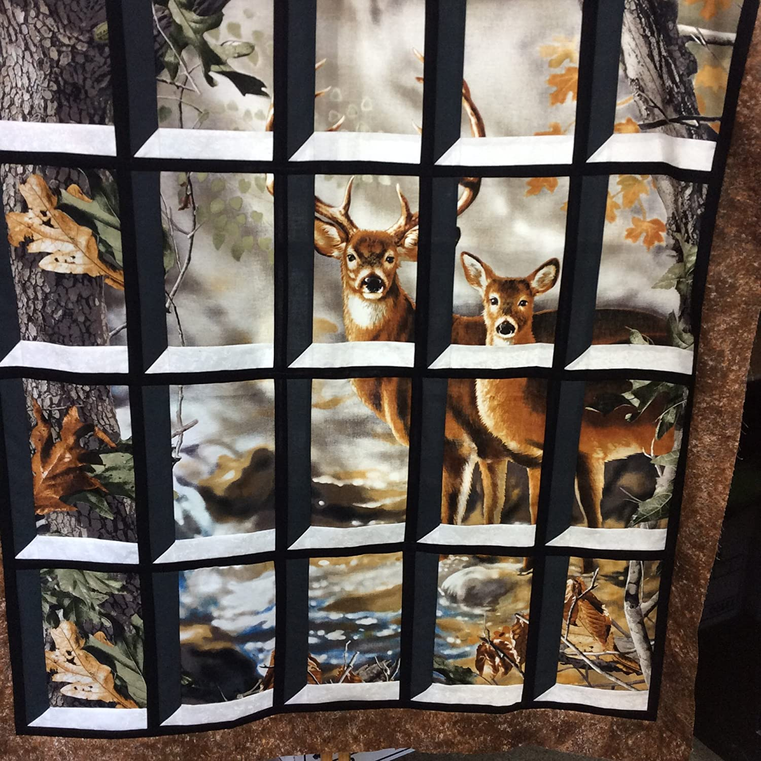Amazon deer in attic window quilt kit realtree buck doe amazon deer in attic window quilt kit realtree buck doe outdoors wildlife do it yourself attic window solutioingenieria Images