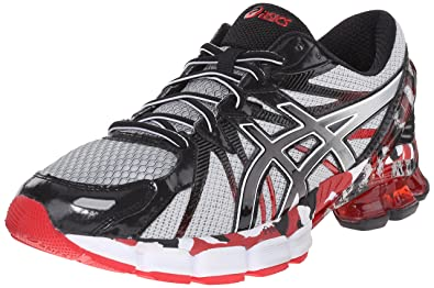 size 40 dc305 d0c65 ASICS Men s GEL Sendai 3 Running Shoe, Black Onyx Red, 7.5 M