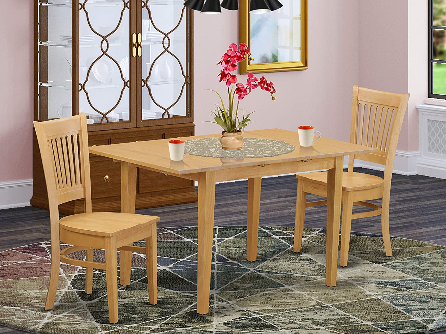 3 PC Kitchen Table set - Kitchen dinette Table and 2 dinette Chairs