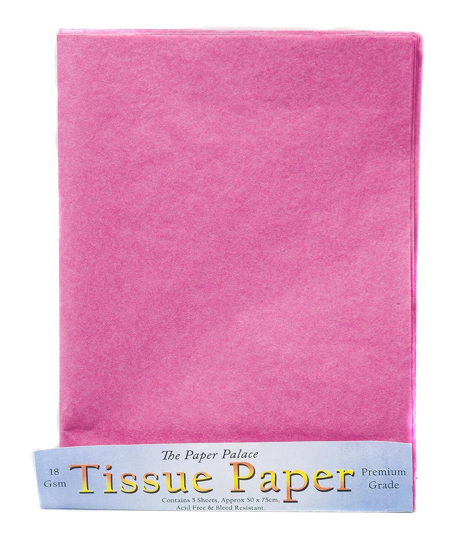 The Paper Palace, carta velina rosa, 51 cm x 76cm, confezione da 5fogli House of Handicrafts 175 21