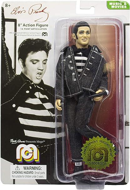 "Mego Action Figures 8"" Elvis Presley Jailhouse Rock Black Denim Outfit"