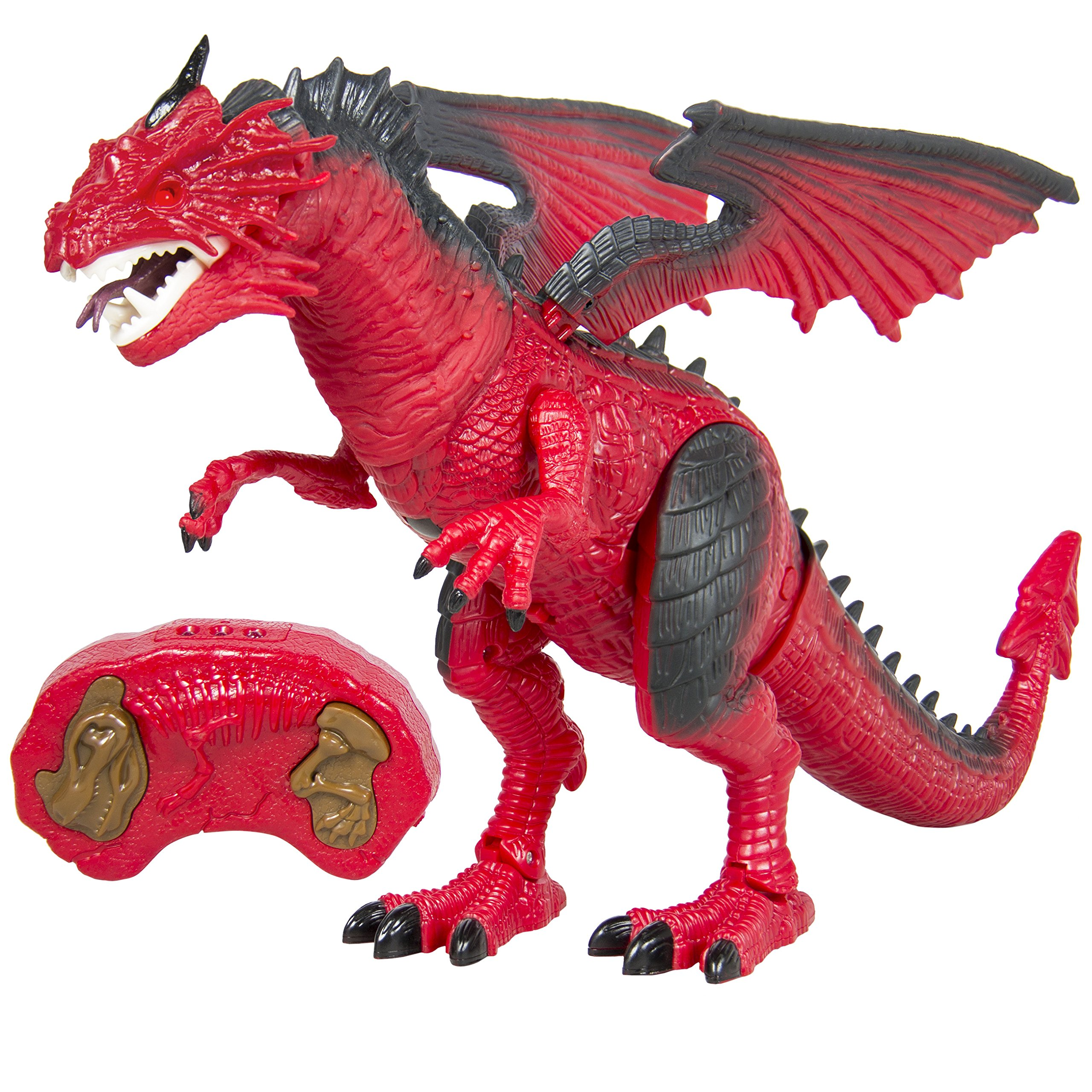 Best Choice Products Remote Control Walking Dragon Lights & Sounds Kid Pet Toy Animal