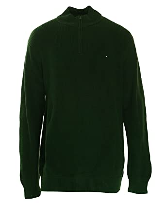 Tommy Hilfiger Mens Harrington Ribbed Trim 1 4 Zip Sweater at Amazon ... cba903991a