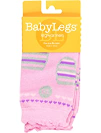 BabyLegs Sterling-Leg Warmers, Pink/Purple/Grey, One Size Fits Most, 1-Pack