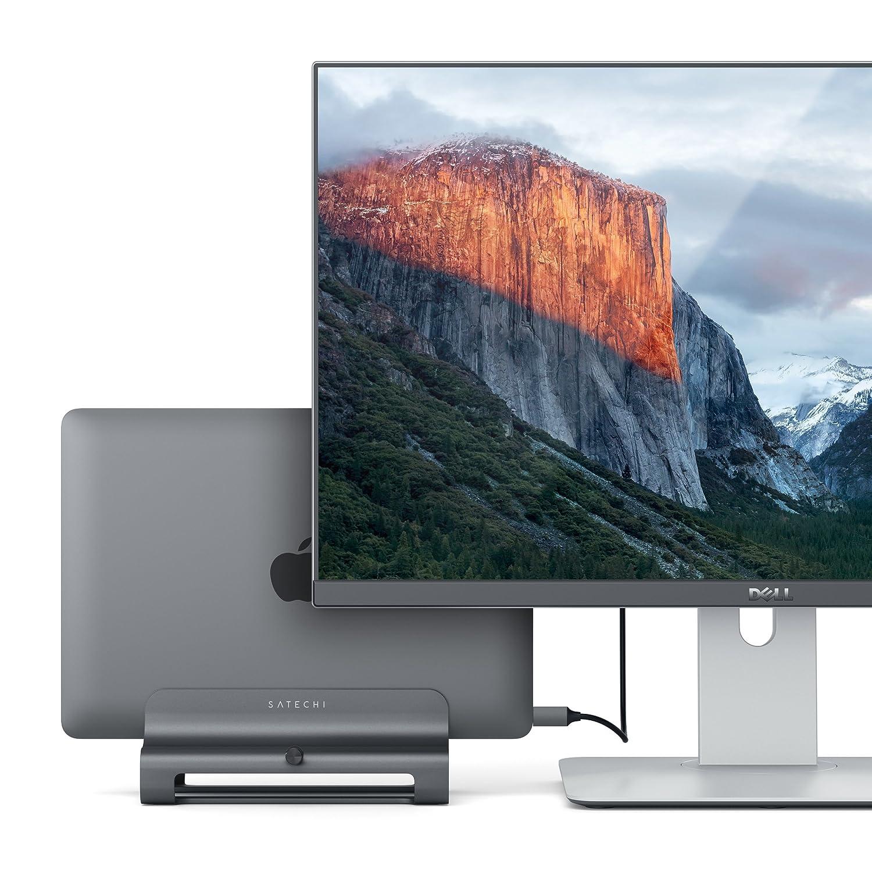 Dell XPS MacBook Pro ASUS Zenbook Samsung Notebook et Plus Encore Gris Sid/éral Compatible avec MacBook Lenovo Yoga SATECHI Support Universel Vertical en Aluminium pour Ordinateur Portable
