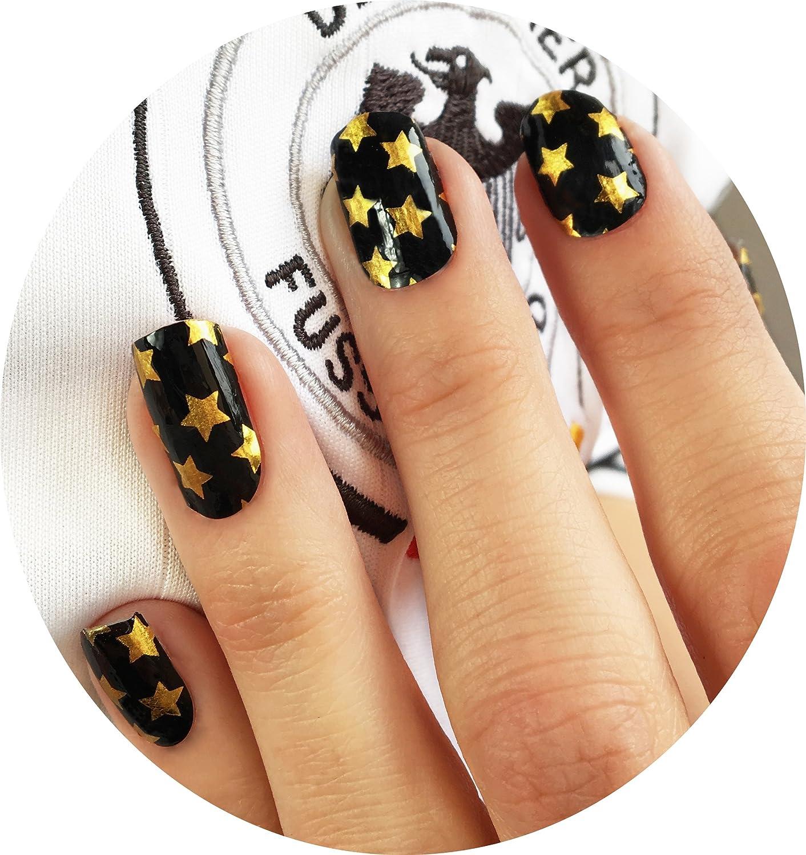 Miss Sophie\'s schwarz-gold Nagel-Folien Golden Star: Nagel-Design ...