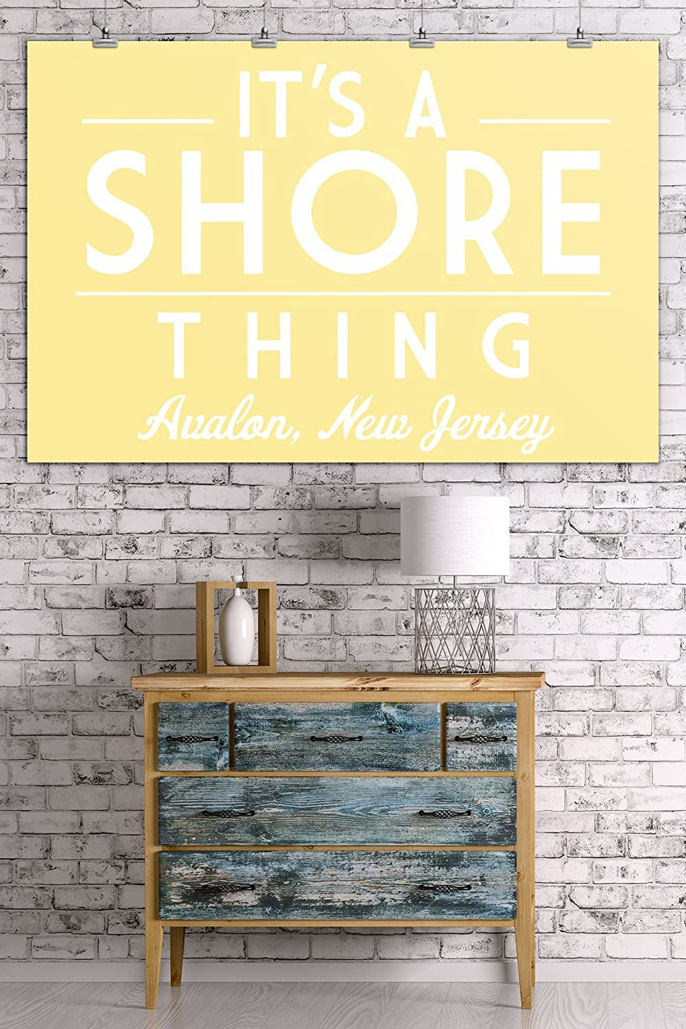 Avalon Its a Shore Thing 24x36 SIGNED Print Master Art Print - Wall Decor Poster Simply Said 78641 New Jersey