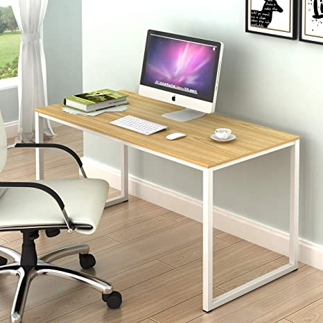 Pleasing Shw Home Office 48 Inch Computer Desk White Oak Beutiful Home Inspiration Semekurdistantinfo