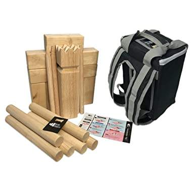 Kubb Empire Standard Edition Premium Hardwood Set with Backpack