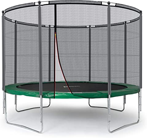 Ampel 24 Outdoor Trampolin 305 Cm Grun Komplett Mit Aussenliegendem Netz Stabilitatsring 8 Gepolsterten Stangen Belastbarkeit 150 Kg Amazon De Garten