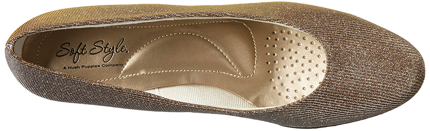 Soft by Style by Soft Hush Puppies Angel II Breit Rund Synthetik Stöckelschuhe  Gold/Silver Cosmic 58edce