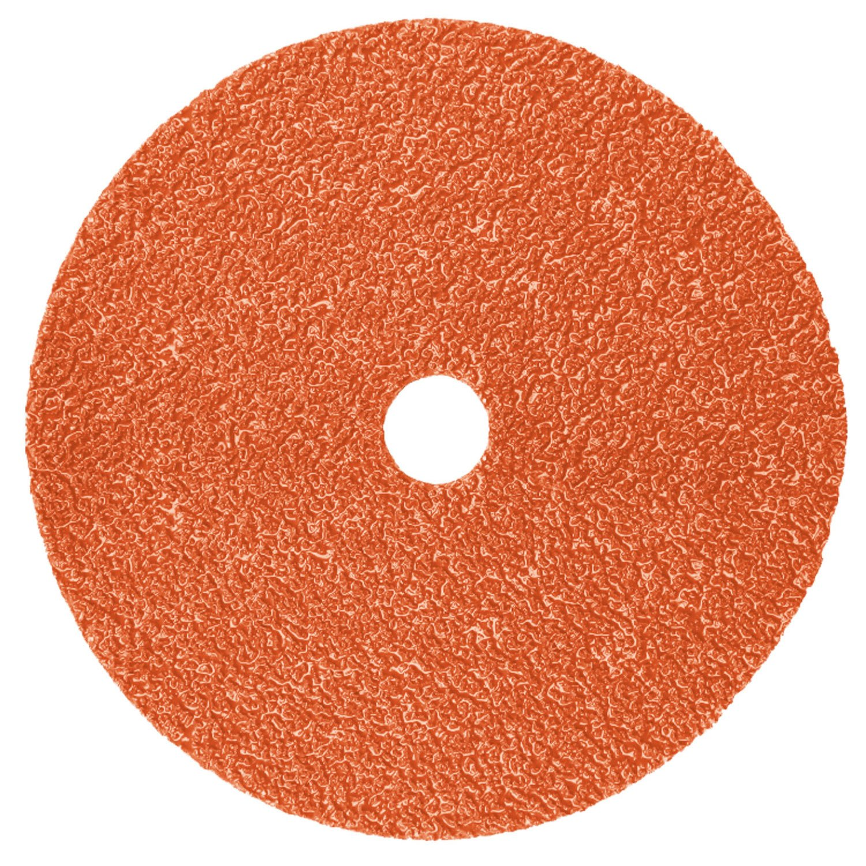 3M Fiber Disc 987C, Precision Shaped Ceramic Grain, 4-1/2'' x 7/8'', 80+ Grit - Lot of 25