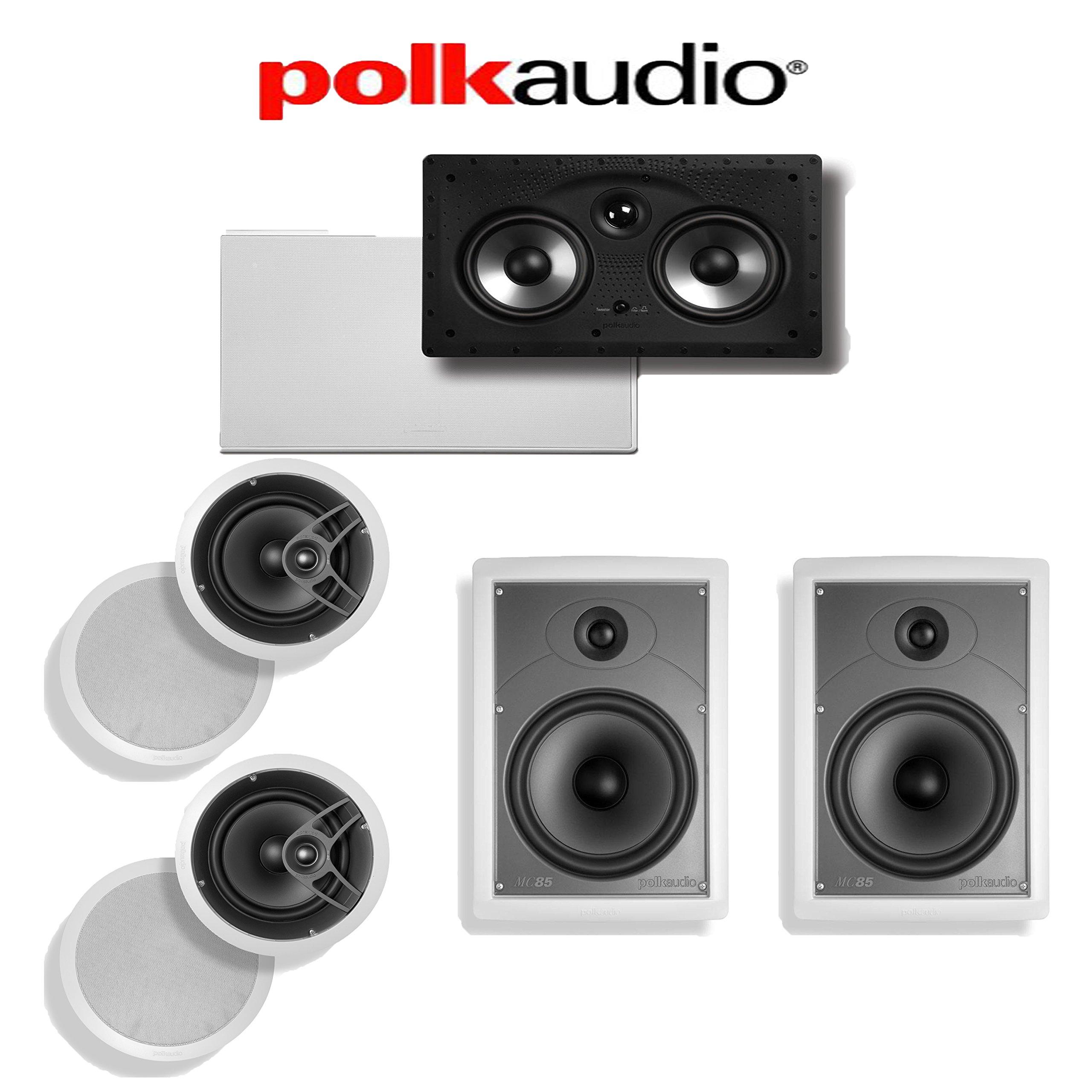 Polk Audio MC80 5.0 In-Wall / In-Ceiling Home Theater Speaker System (MC80 + MC85 + 255C-RT) by Polk Audio