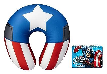 Marvel Capitán América Cuello Almohada y Diario Set: Amazon ...