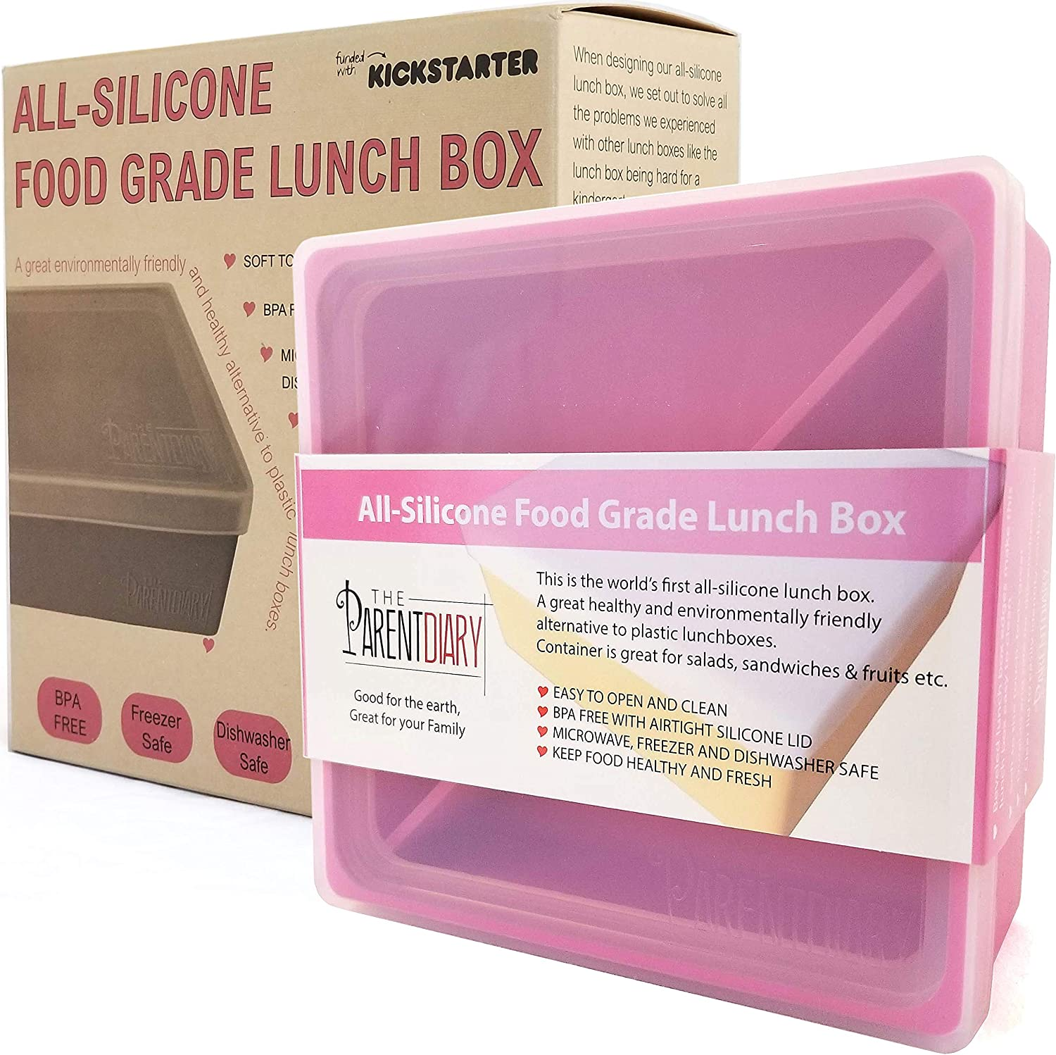 Blue, Single Compartment Eco Lunch box for Kids and Adults Kids ...