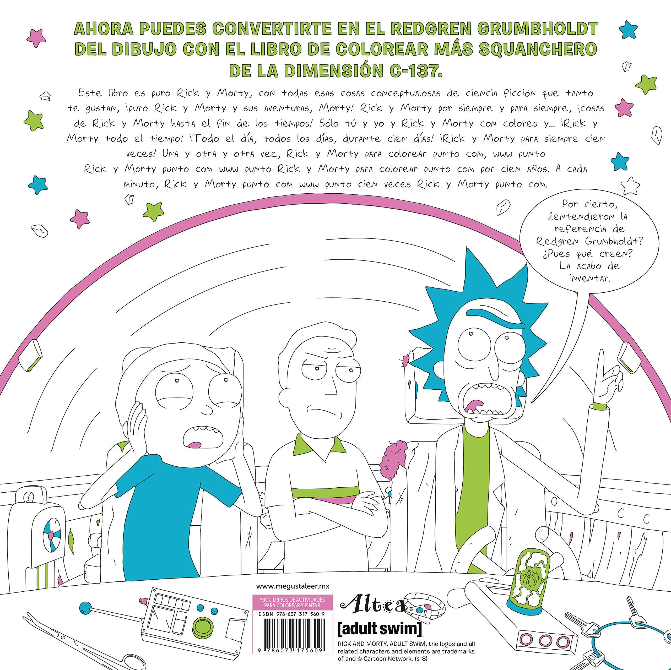 Rick Morty Libro Oficial Para Colorear Cartoon Network Amazon