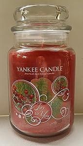 Yankee Candle Holiday Joy to You 22 oz Large Jar Candle