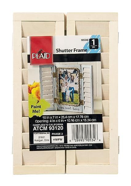 Very best Amazon.com: Plaid Unpainted Wood Craft Surfaces Shape, 90534E  DI97