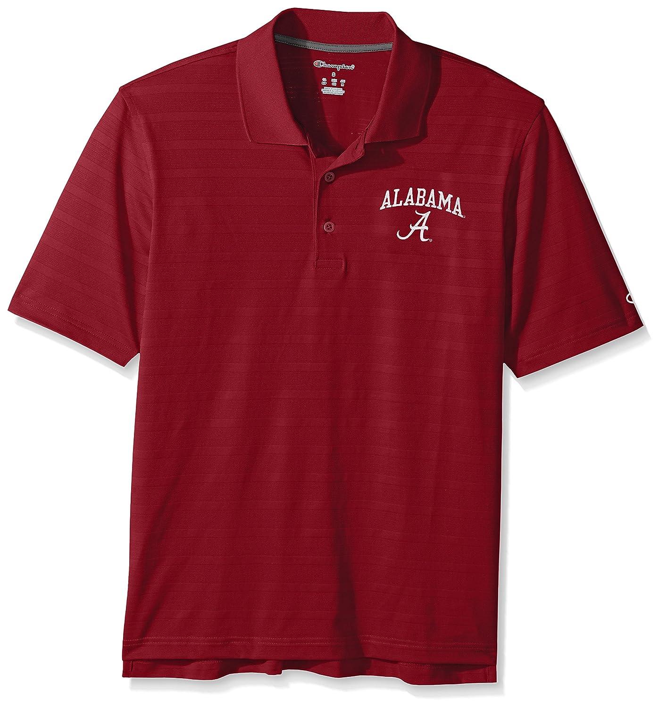 XX-Large NCAA Champion Mens Textured Solid Polo Alabama Crimson Tide