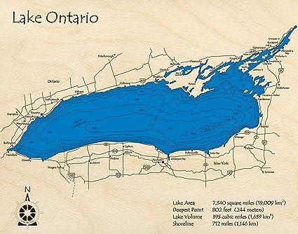 Amazon.com: Lake Ontario - Great Lakes - GL - 3D Map 24 x 30 ...