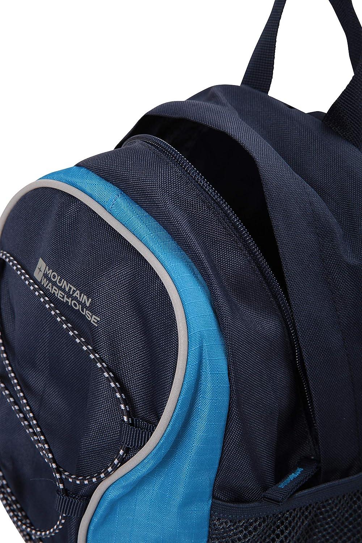 Shoulder Straps Outdoors Dark Blue Mountain Warehouse Walklet 6L Rucksack Bottle Pockets Backpack Best for Picnics Reflective Details Casual Daypacks Bungee Cords Bag
