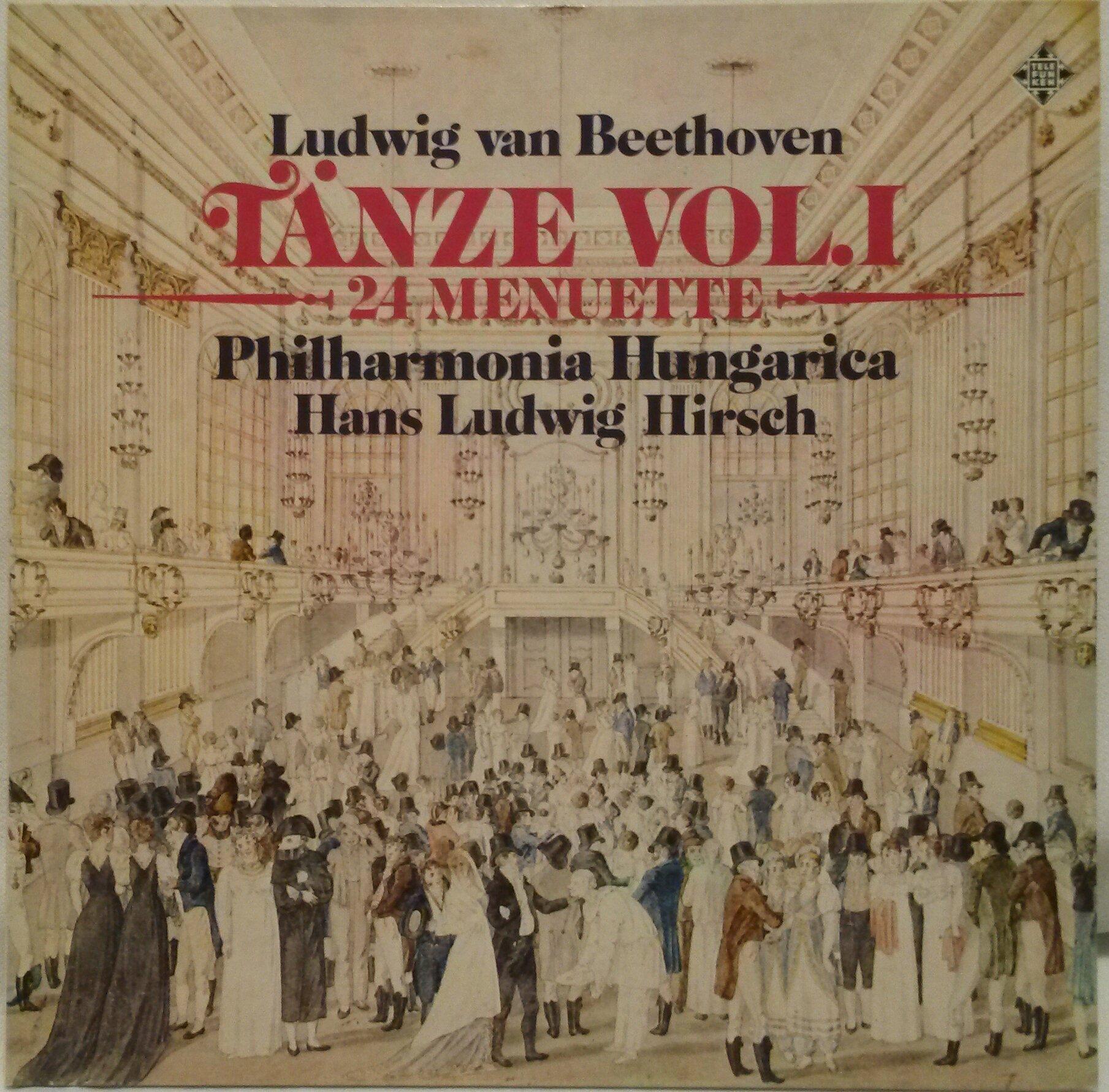BEETHOVEN 24 MINUETS WoO 7 9 10 Hans Ludwig Hirsch Philharmonia Hungarica TELEFUNKEN 641935 LP RECORD by TELEFUNKEN