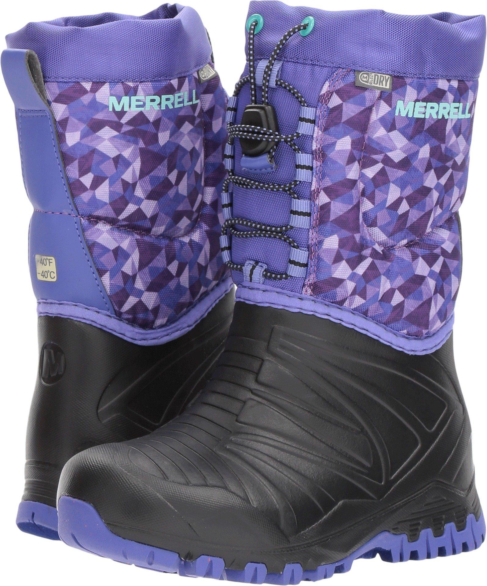Merrell Snow Quest Lite Waterproof Snow Boot (Little Kid/Big Kid), Black/Purple, 12 M US Little Kid
