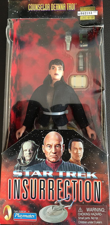 Deanna Troi Star Trek Insurrection Figure With Fabric Clothing 9  Playmates 65355