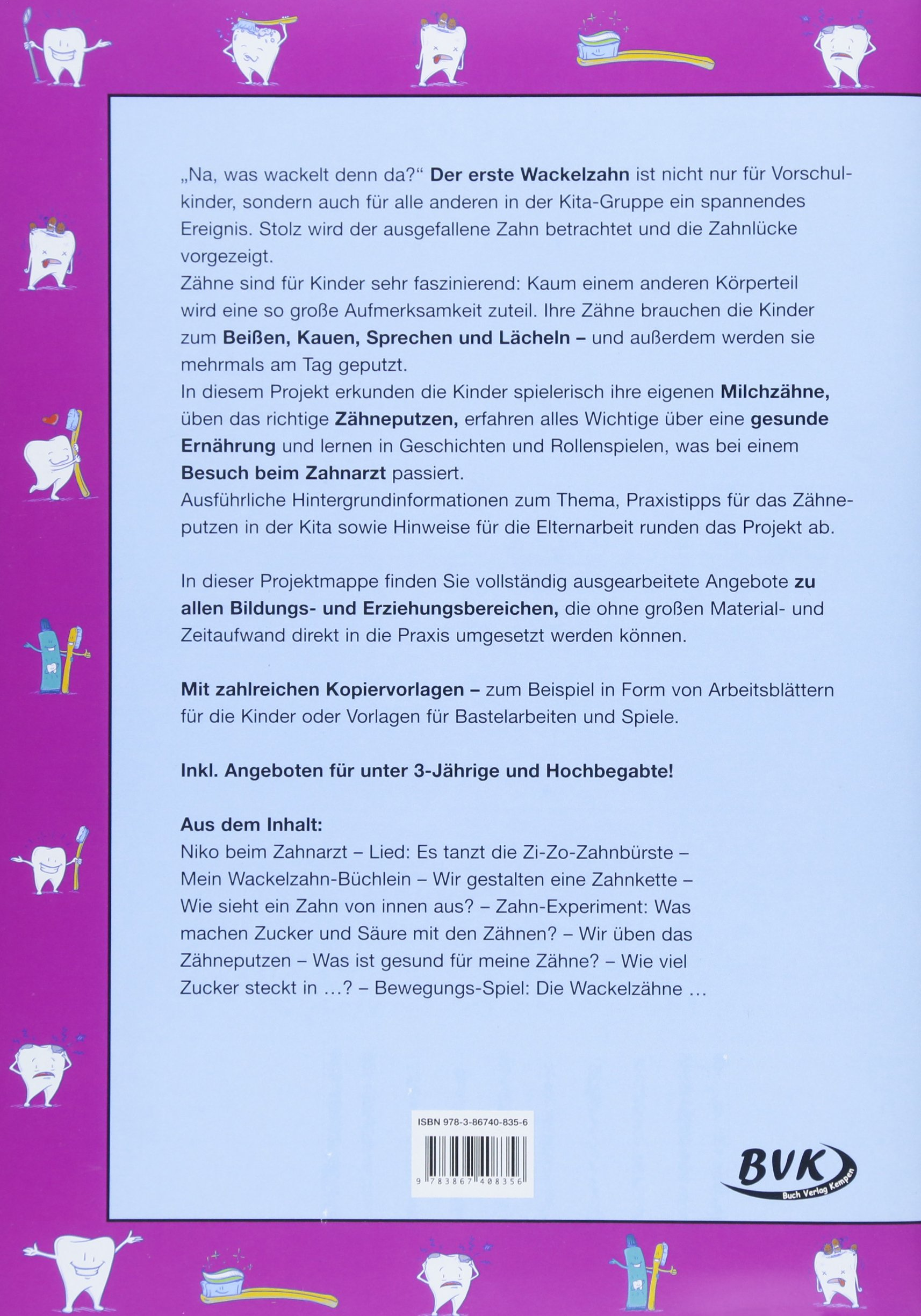 Kita aktiv Projektmappe Zähne: 9783867408356: Amazon.com: Books