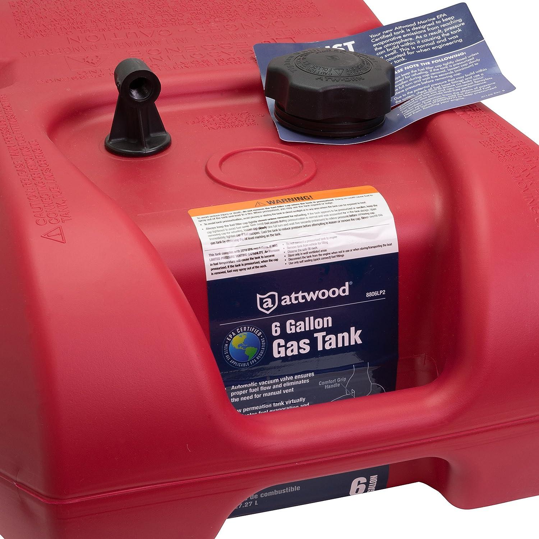 Attwood 8806lp2 Epa Certified 6 Gallon Portable 93 Honda The Vacuum And Pressure Air Hosescontrol Valvepurge Fuel Tank Automotive