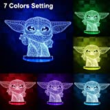 3D Illusion Star Wars Night Light,4 Pattern with Timing Function Star Wars Toys LED Night Lamp for Room Decor,Great…
