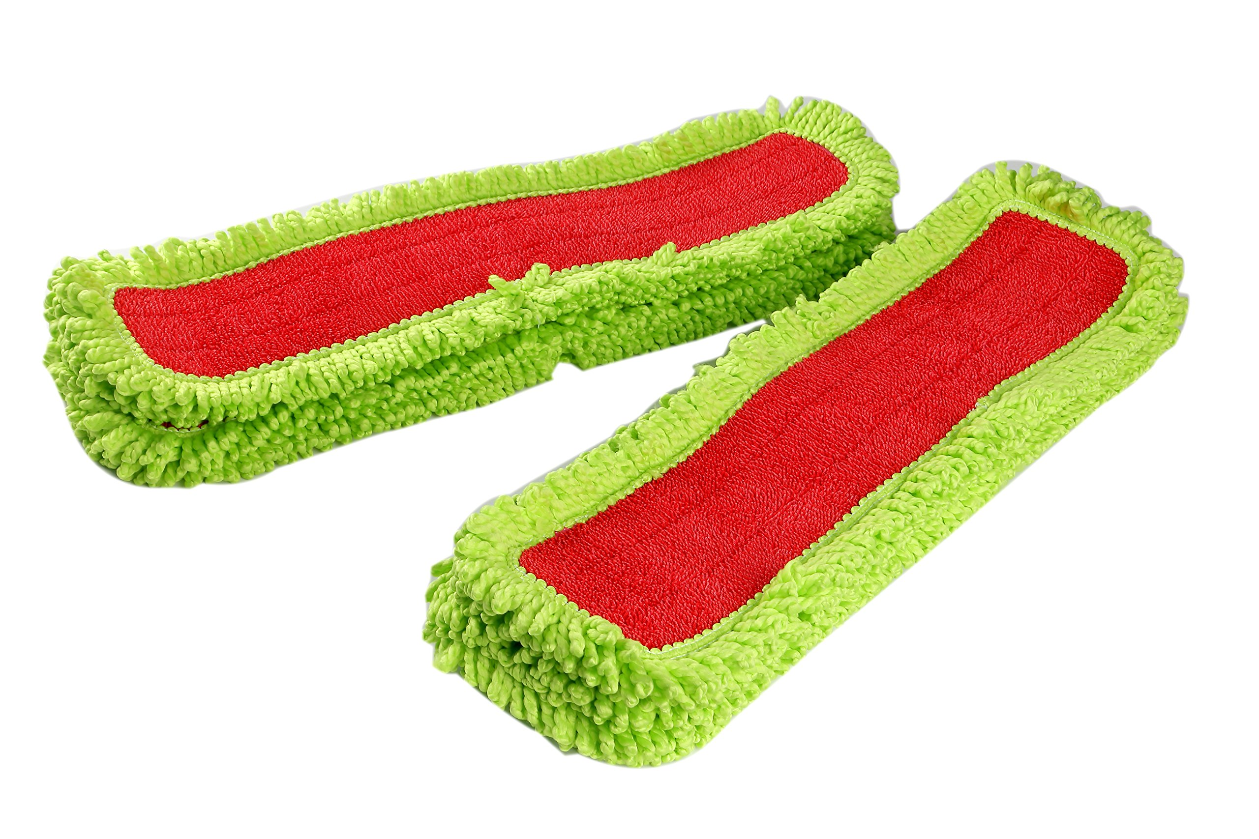 LTWHOME 24 Inch Microfiber Washable Flat Mop Pad Refills(Pack of 12)