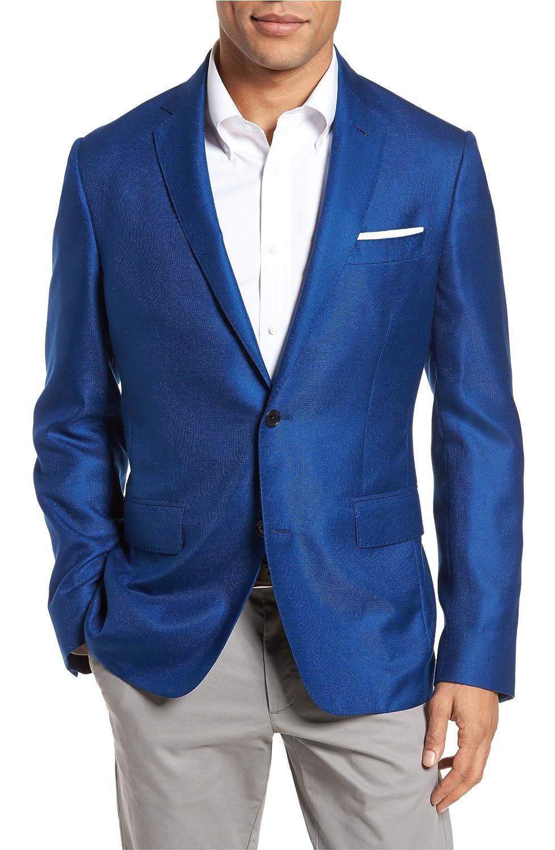 [モンテロッソ] メンズ ジャケットブルゾン Monte Rosso Trim Fit Cashmere & Silk Bla [並行輸入品] B07DW1M3FK 38S