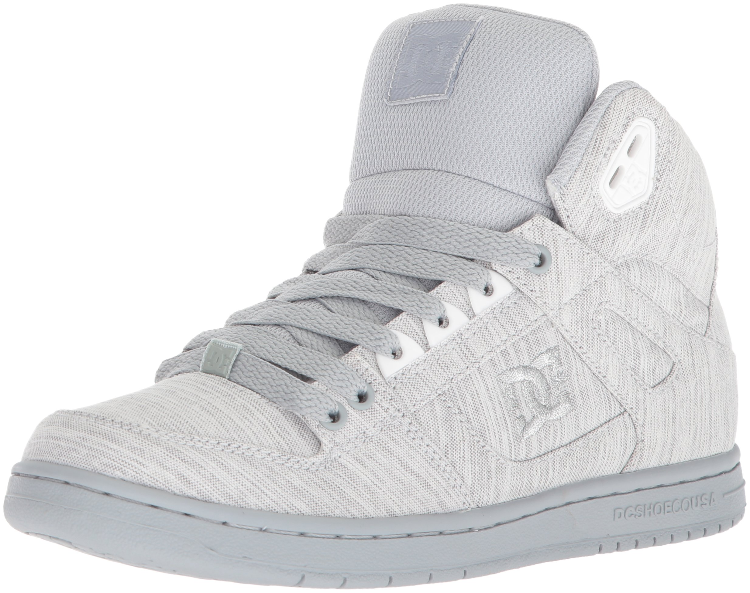 DC Women's Pure High-Top TX SE Skate Shoe, Grey/Grey/Grey, 10.5 B US