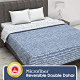 Divine Casa Twilight Polka Dot 110 GSM Microfibre All Weather Double Dohar - Blue