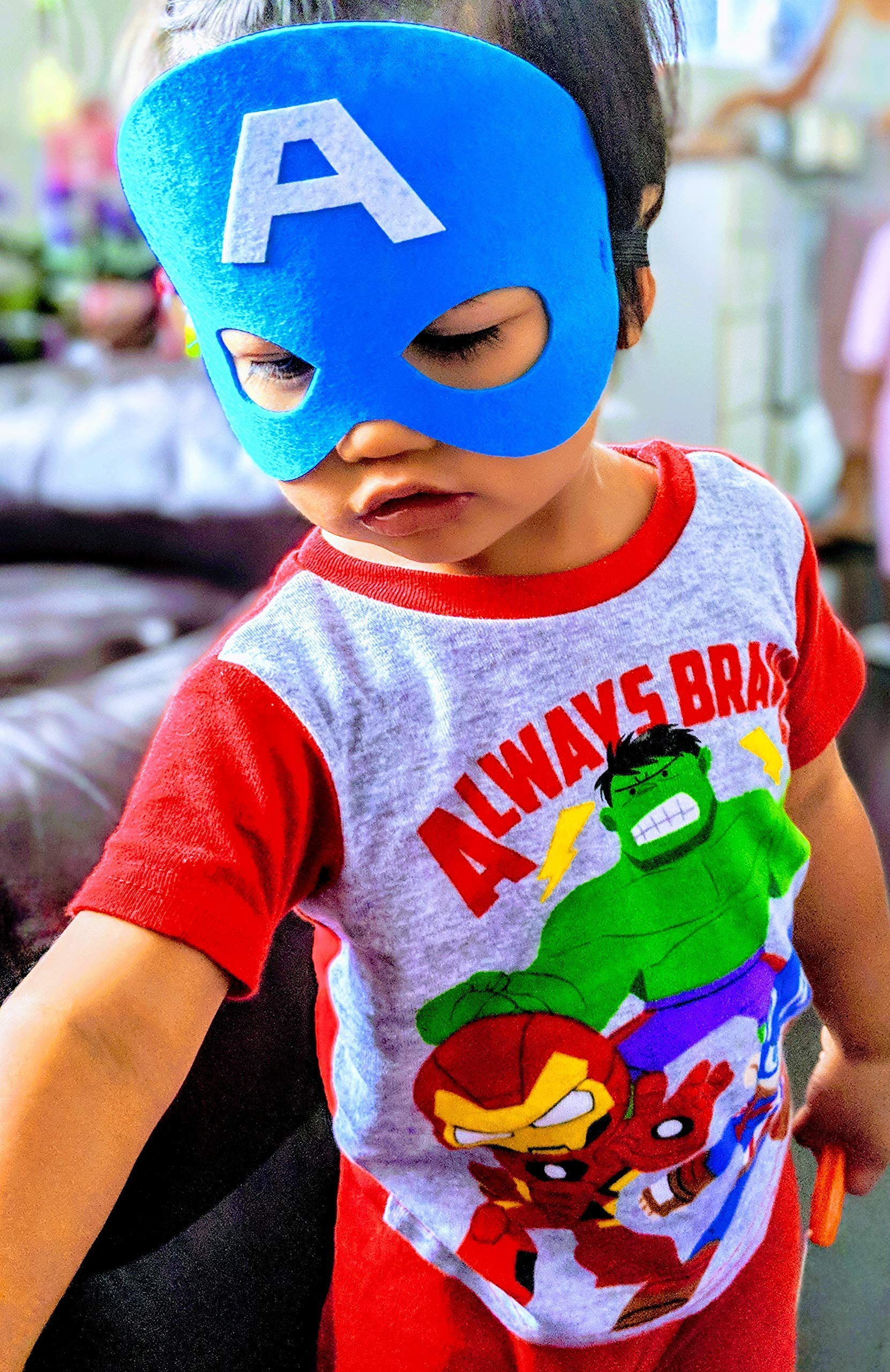 HXDZFX 24PCS Superhero Party Masks /& Superhero Slap Bracelet for Kids Baby The Avengers Super Heroes Birthday Party Supplies Favors Children//Kids//Adults